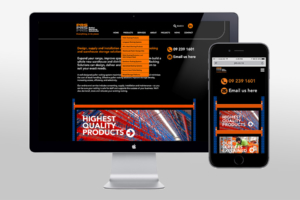 Responsive website design for Pallet Racking Solutions by Angle Limited