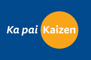 BNZ Kaizen campaign mark, Ka Pai Kaizen designed by Angle Limited