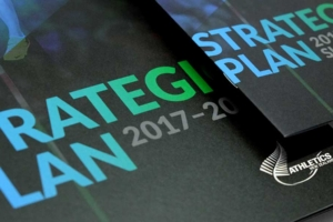 Strategic Plan brochure design A4 and A5 cover detail by Angle Limited for Athletics New Zealand