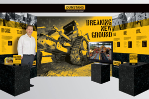 Dunstans Construction Group Breaking New Ground APIA trade show stand designed by Angle Limited
