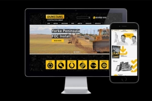 Dunstans Construction Group website designed by Angle Limited – home page