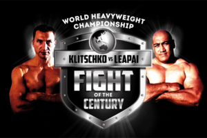 Wladimir Klitschko and Alex Leapai Fight of the Century brand and logo designed by Angle Limited