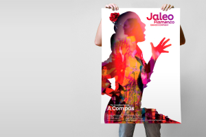 Jaleo Flamenco from Sevilla 2014 tour poster designed by Angle Limited