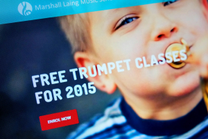Marshall Laing Music School website designed by Angle Limited