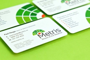 Logo design and rebranding for Metris by Angle Limited Auckland