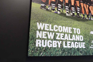 New Zealand Rugby League Sponsors panel designed by Angle Limited
