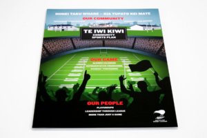 New Zealand Rugby League Strategic Plan designed by Angle Limited Te Iwi Kiwi