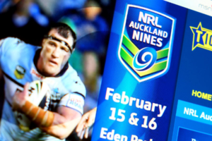 Dick Smith NRL Auckland Nines Ticketek web banners designed by Angle Limited