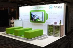 NZAS Trade show stand design for Phonak New Zealand by Angle Limited Auckland