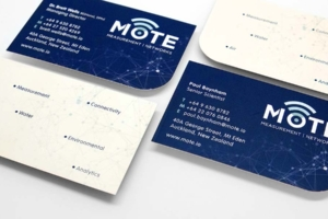 Rebranding and business card design by Angle Limited for Mote