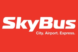 SkyBus Auckland vehicle branding designed by Angle Limited