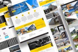 Website design and development by Angle Limited for Cassidy Construction composite view