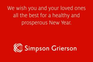 Simpson Grierson Christmas card designed by Angle Limited