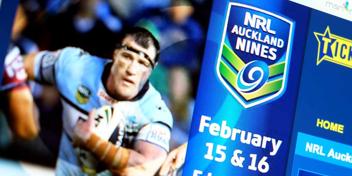 Advertising services Angle Limited Auckland NRL Auckland Nines advertising
