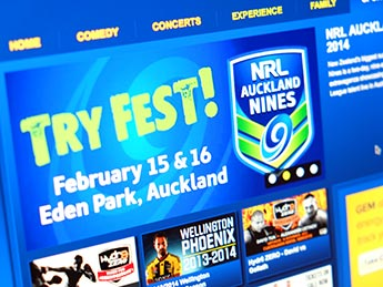 Angle Limited Auckland Advertising services Digital advertising example for NRL Auckland Nines