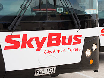 Angle Limited Auckland Signage & large scale design services Vehicle branding SkyBus fleet example