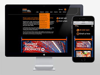 Angle Limited Auckland Website & digital design services Pallet Racking Solutions responsive website design
