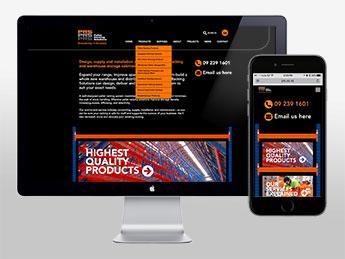 Angle Limited Auckland Website & digital design services Pallet Racking Solutions responsive website design