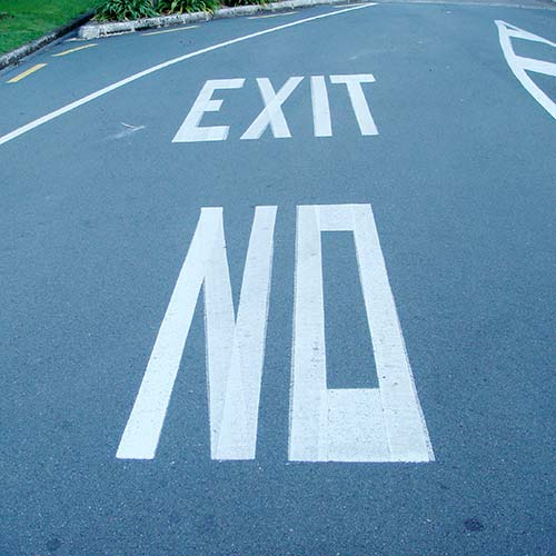 Angle Limited funny signage exit no road markings auckland