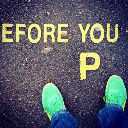 Before you p road marking photographed by Angle limited