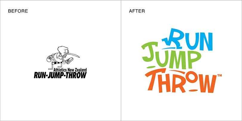 Rebranding by Angle Limited Auckland for Athletics New Zealand Run Jump Throw