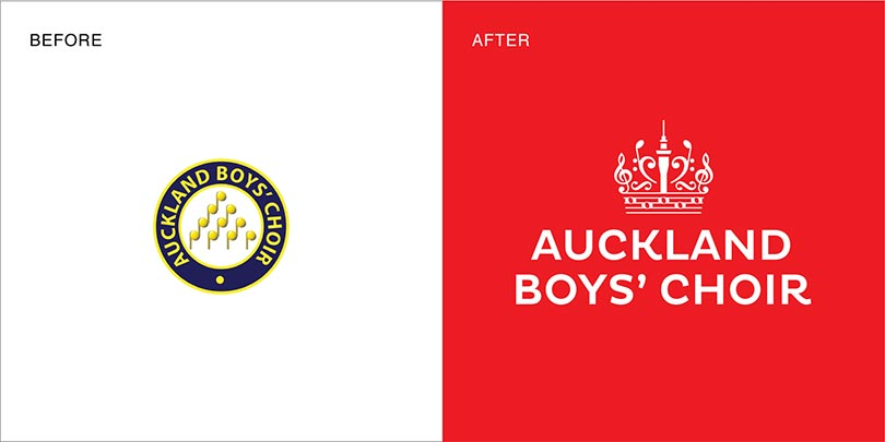 Rebranding by Angle Limited Auckland for Auckland Boys' Choir