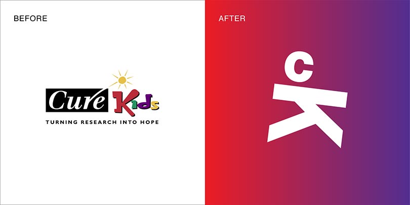 Rebranding by Angle Limited Auckland for Cure Kids NZ charity