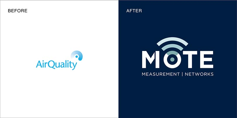 Rebranding by Angle Limited Auckland for Mote New Zealand