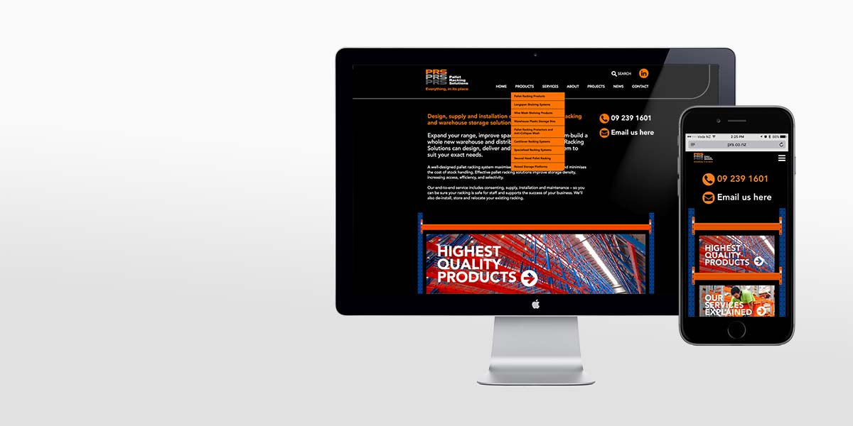Website design Angle Limited Auckland PRS responsive website